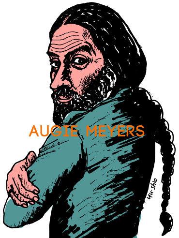Augie Meyers caricature likeness
