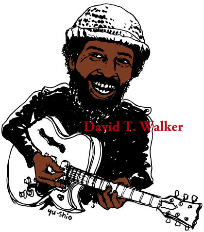 David T. Walker caricature likeness