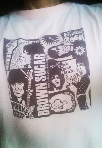Rolling Stones T Shirt caricature