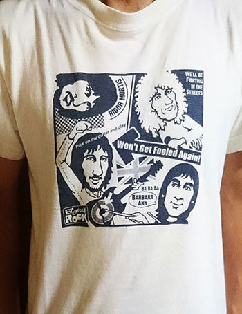The Who T Shirt caricature