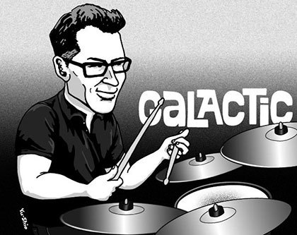 Stanton Moore Galactic caricature likeness