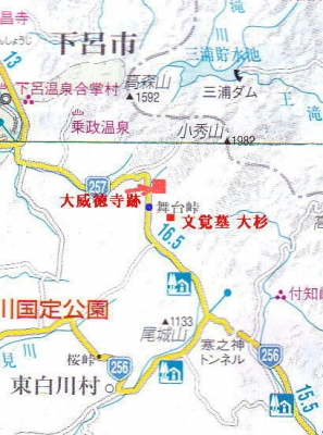舞台峠大地図
