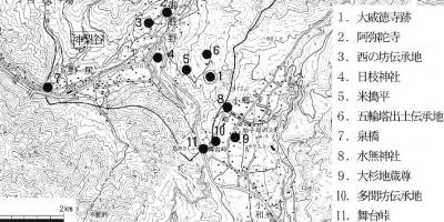 大威徳寺地形図