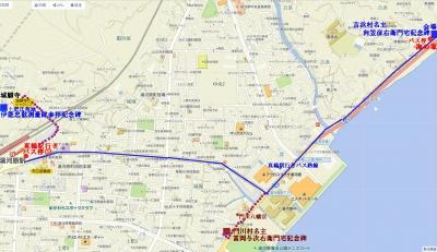湯河原駅前からバス地図