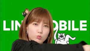 本田翼LINEモバイルダンス「けたたましく動くクマ」篇0014