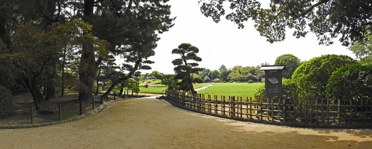 20190910 後楽園今日の園内入口付近の園内ワイド風景 (1)