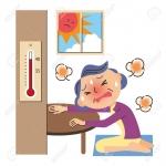 熱中症の老人