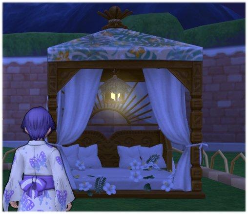 20190627お庭用天蓋付きベッド