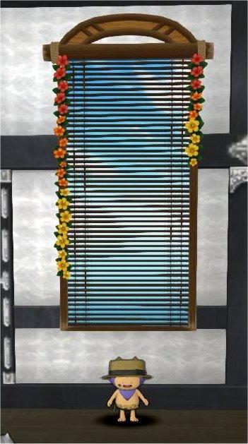 20190717壁かけ真夏のブラインド