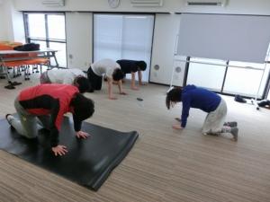 体幹トレーニングをされていらっしゃいました。