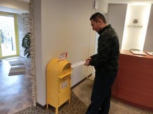 太田社長に黄色いポストをご活用頂きました♪