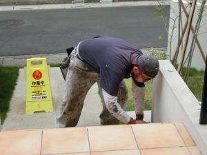 滑り止め塗装工事をして頂きました