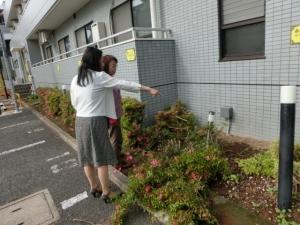 勝田社長と清掃スタッフKさんが相談中です♪