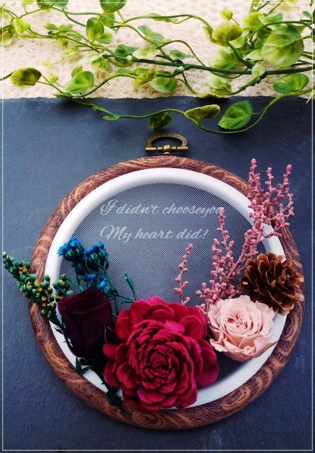 香る刺繍枠アート/カレイドフレーム