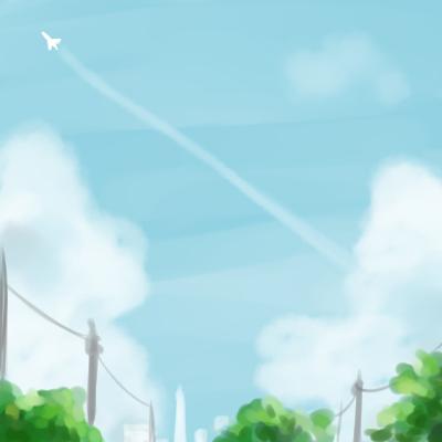 「夏の朝」挿し絵