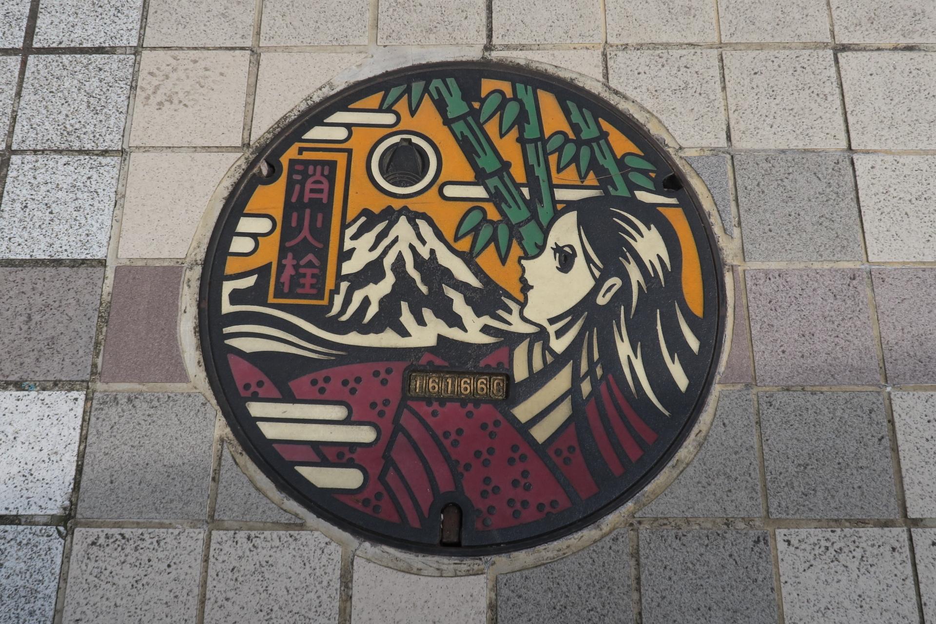 マンホールの富士山