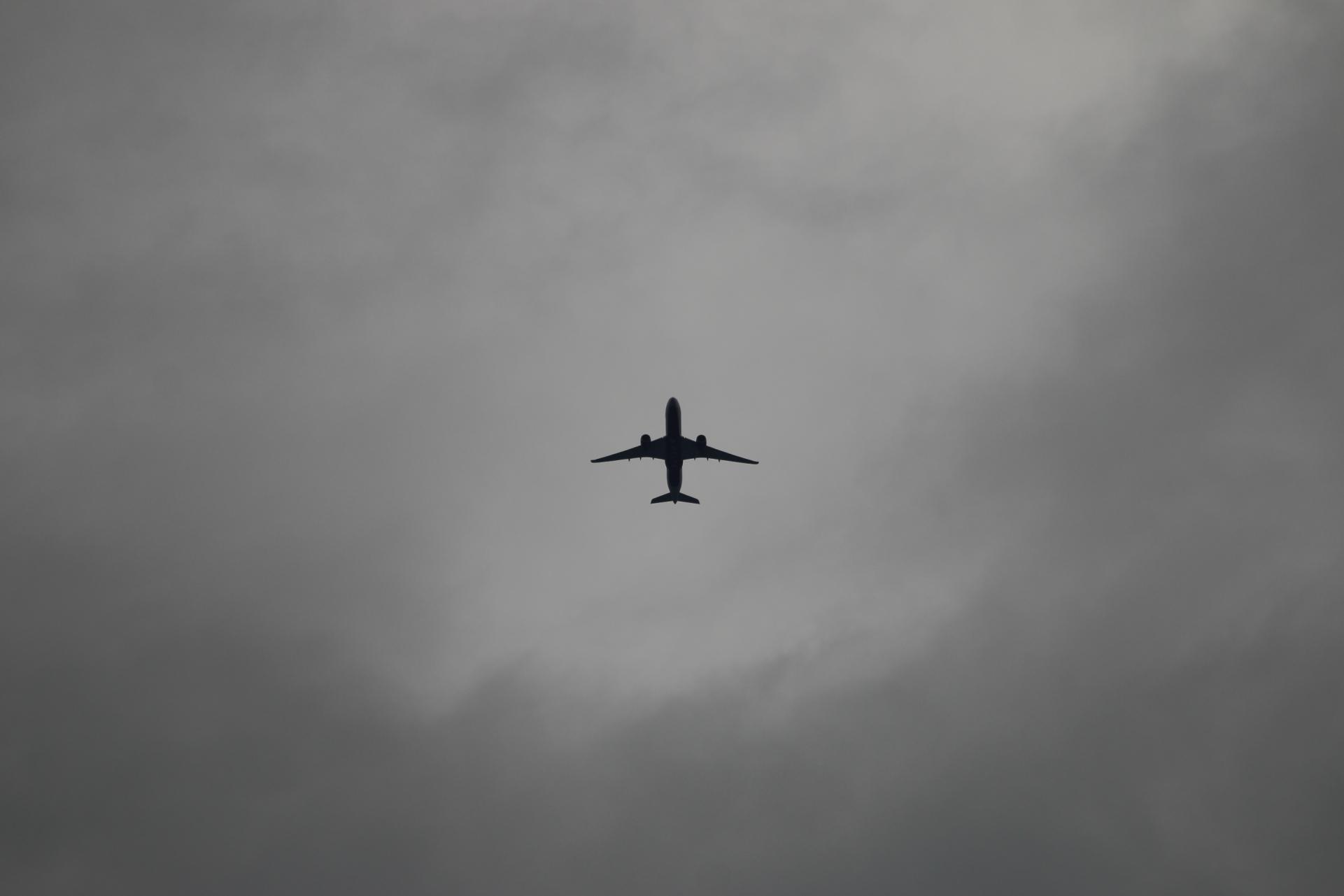 雲と飛行機