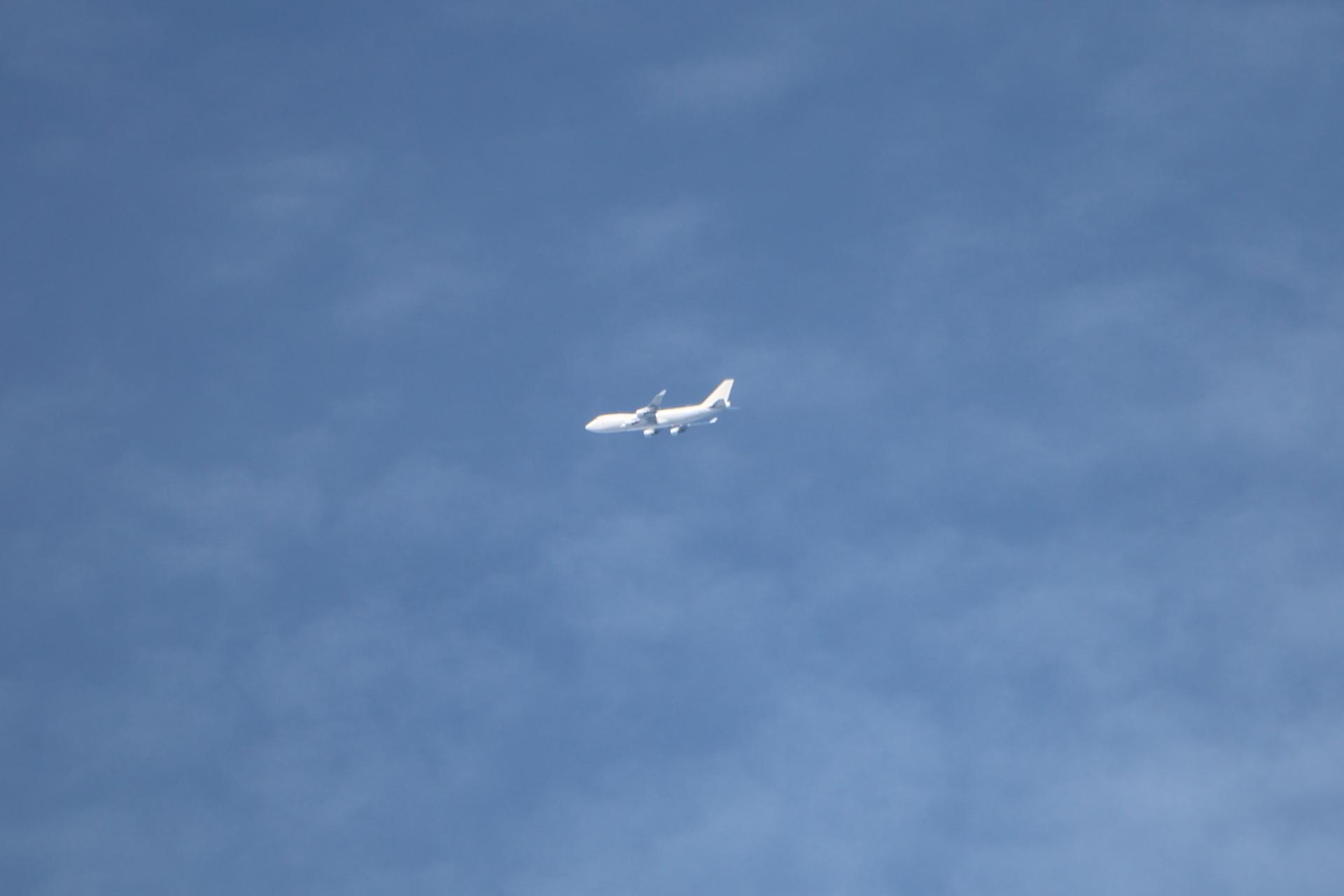 白い飛行機