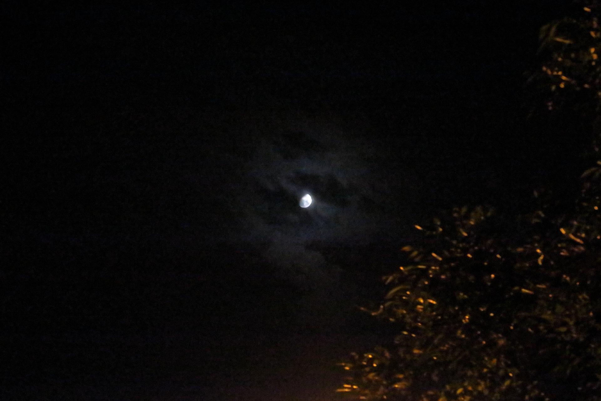 月を隠す雲