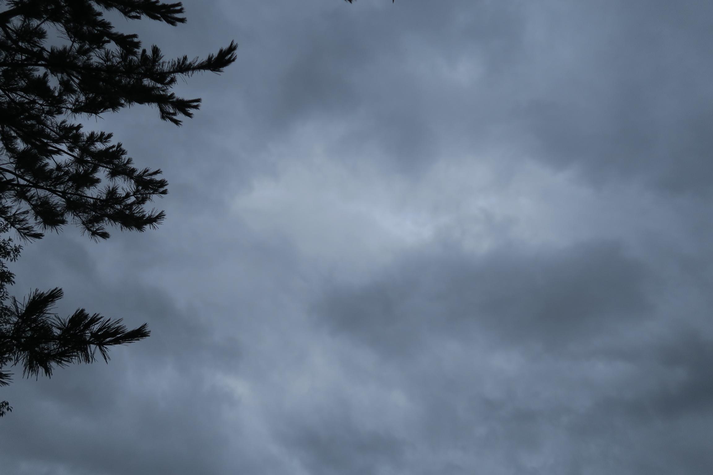 台風が過ぎた朝の雲