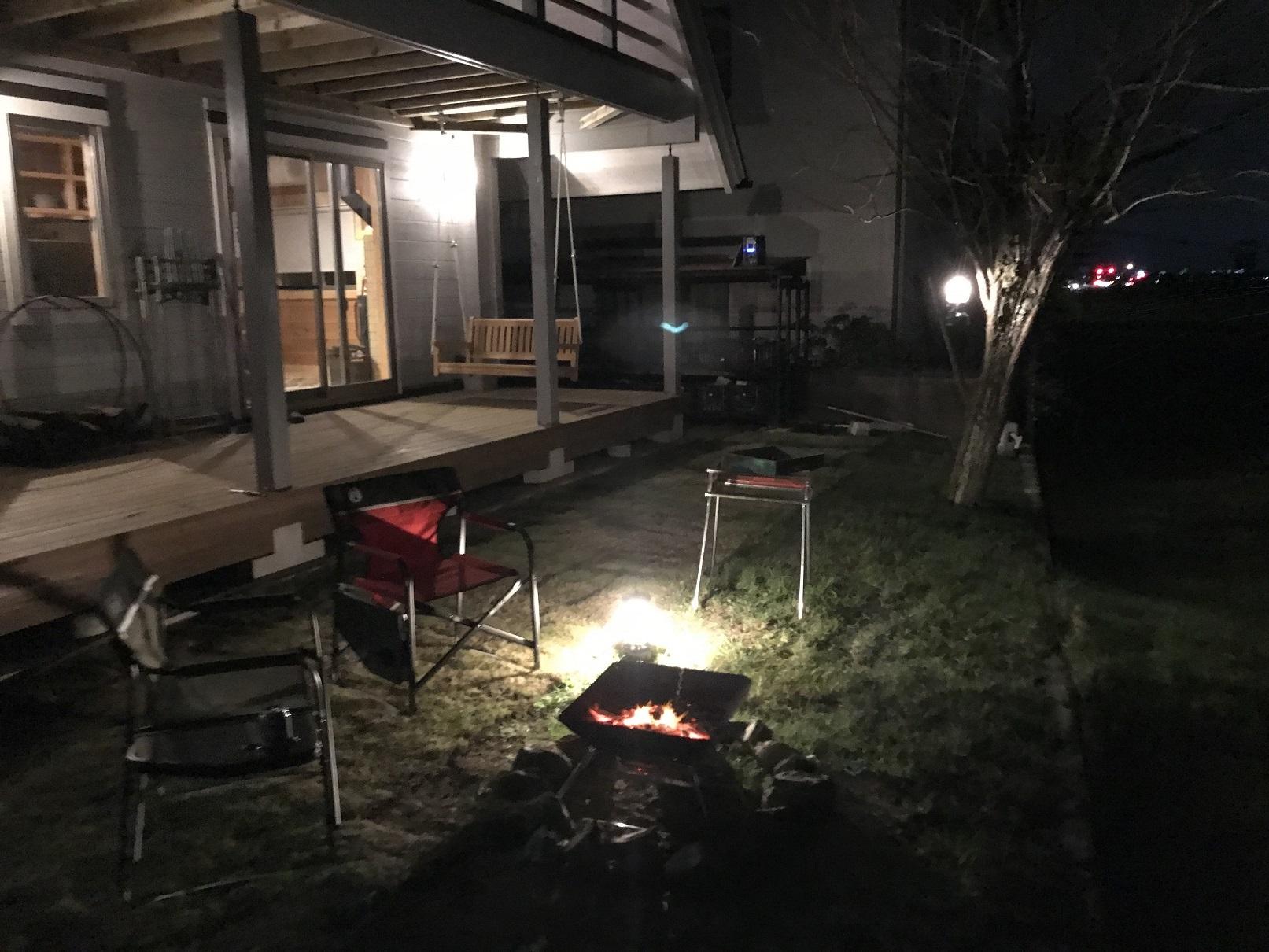 家キャンプBBQ