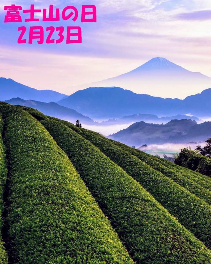 富士山と茶畑1