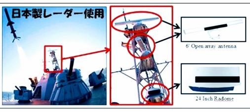 北の日本製レーダー1