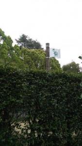 神山森林公園 イルローザの森 生垣迷路 カメ地点の旗