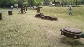 神山森林公園 イルローザの森 木馬の広場