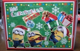 ミニオンクリスマスケーキ 箱側面1