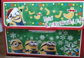 ミニオンクリスマスケーキ 箱側面2
