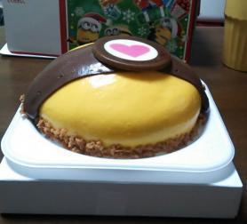 ミニオンクリスマスケーキ 横から