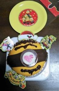 ミニオンクリスマスケーキ デコレ