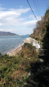 男木島灯台へ向かう道からの眺め