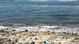 男木島灯台近くの海岸