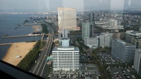 福岡タワーからの景色 ヤフオクドーム側