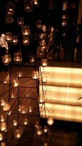 純白の森 ナイトミュージアム ランプオブジェ