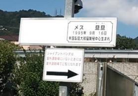 王子動物園 タンタン紹介板 近景
