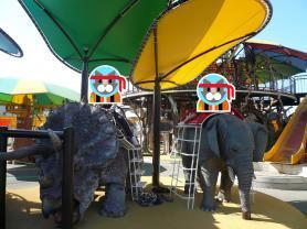 アクトランド 象の乗り物