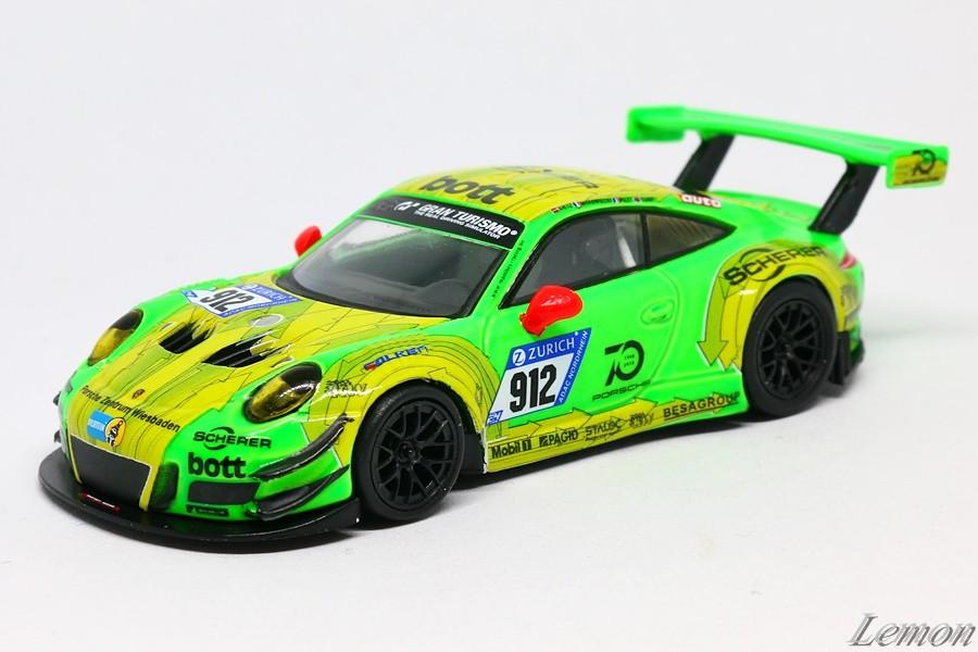 【スパーク】 1/64 ポルシェ 911 GT3 R Manthey Racing #912 Nurburgring 24h 2018