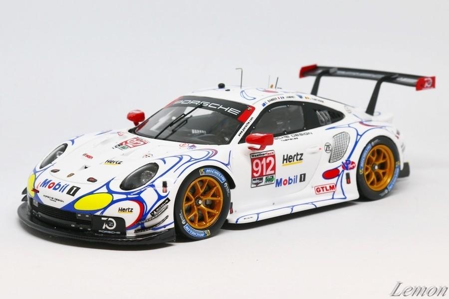 【スパーク】 1/43 ポルシェ 911 RSR - Porsche Gt Team - Petit Le Mans 2018 #912