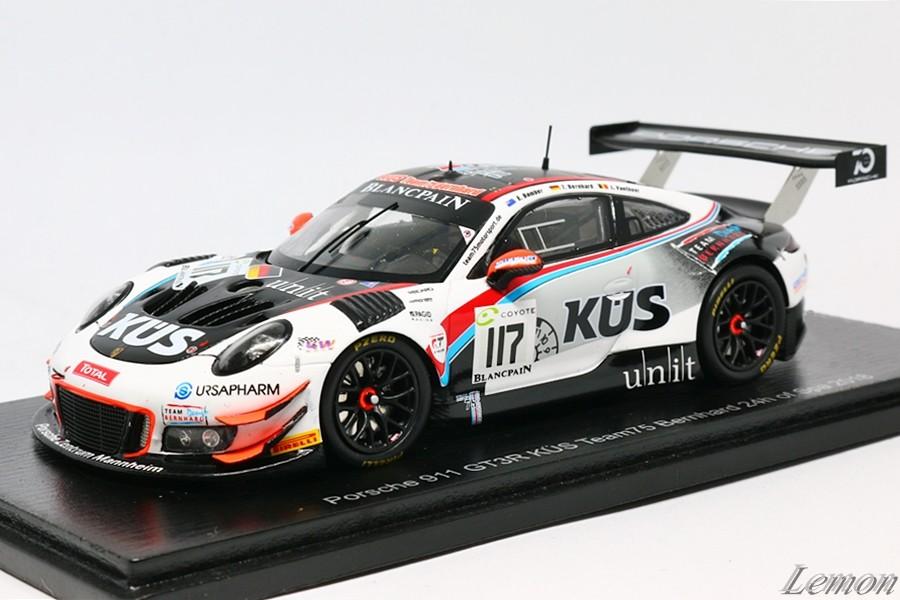 【スパーク】 1/43 ポルシェ 911 GT3 R KÜS Team75 Bernhard 24h of Spa 2018