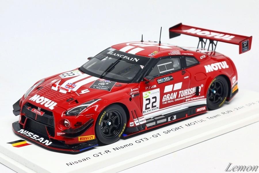 【スパーク】 1/43 日産 GT-R Nismo GT3 - GT SPORT MOTUL Team RJN - 24H SPA 2018