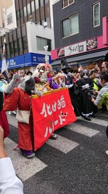 化け猫パレードの先頭さん達