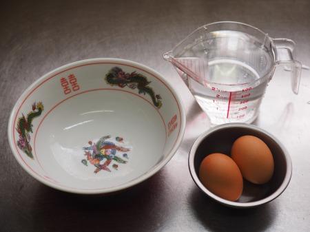 ラーメン丼で簡単温泉卵001