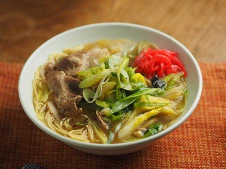白菜にんにく炒めラーメン014