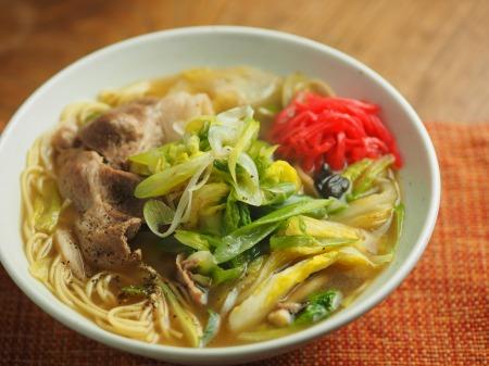 白菜にんにく炒めラーメン016