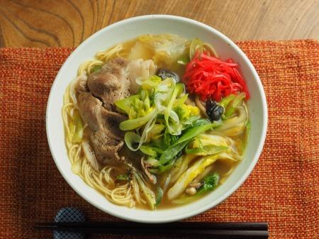 白菜にんにく炒めラーメン018
