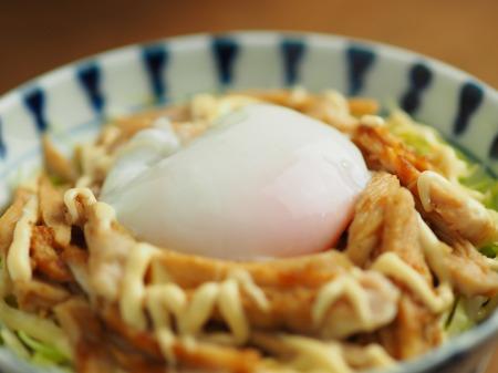 ラーメン丼で簡単温泉卵024