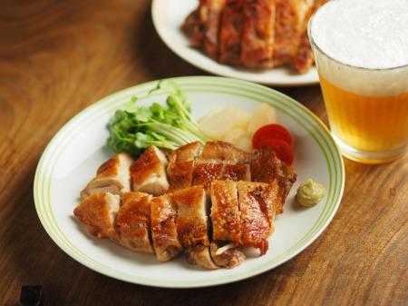 鶏もも肉の塩辛焼き027